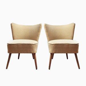 Gelbe Cocktail Stühle, 1950er, 2er Set