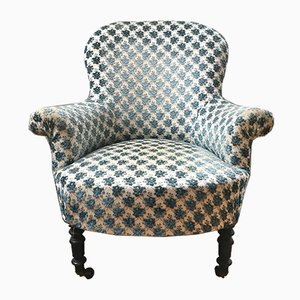 Antique Floral Toad Armchair