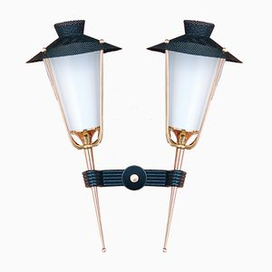 Double Lantern Sconce from Arlus, 1950s