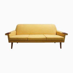 Gelbes dänisches 3-Sitzer Sofa, 1960er