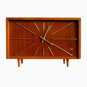 Orologio vintage in legno di Weimar, anni '50