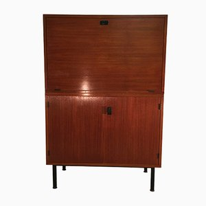 Teak Secretary with Interior Lighting, 1960s