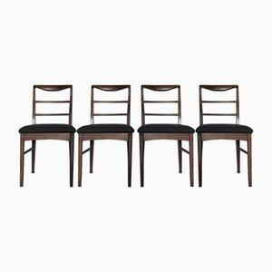 Esszimmerstühle aus Teak von Vanson, 1960er, 4er Set