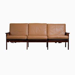 Dänisches 3-Sitzer Sofa aus Palisander von Illum Wikkelsø für Niels Eilersen, 1960er