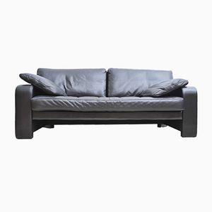 Black 2-Seater Sofa from Züco, 1980s