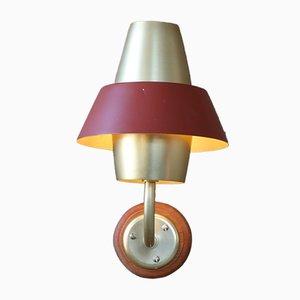 Dänische Mid-Century Wandlampe aus Teak, 1960er