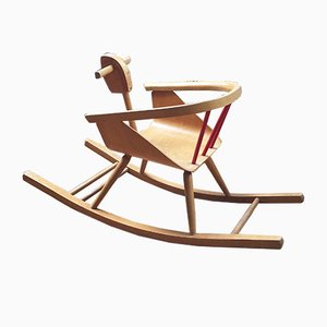 Caballo de madera vintage de Baumann