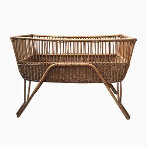 Vintage Rattan Crib