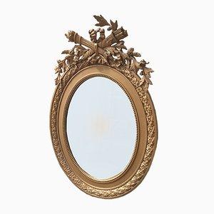 Antique Golden Stucco Mirror