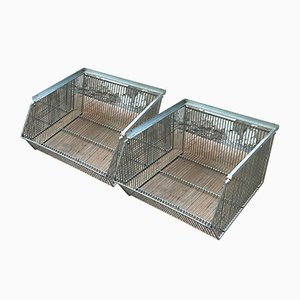 Vintage Metal Storage Units, Set of 2