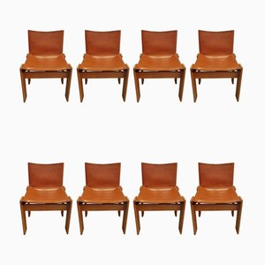 Monk Chairs by Tobia & Afra Scarpa for Molteni, 1974, Set of 8