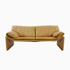 2-Seater Sofa in Cognac Leather by Etienne Aigner, 1980s