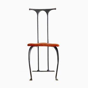 Skulpturaler Doux Bonheur Stuhl von Maciej Tasiemski für Blacksmith Art Deco Workshop, 1980er