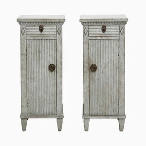Gustavian Bedside Cabinets, Set of 2