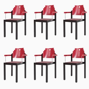 Vintage Dining Chairs from Gebrüder Thonet Vienna, Set of 6