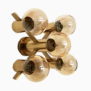 Swedish Brass Ceiling Lamp by Hans Anne Jakobsson, 1960s