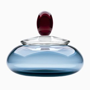 Kountess Vase in Blue & Red by Karim Rashid for Purho