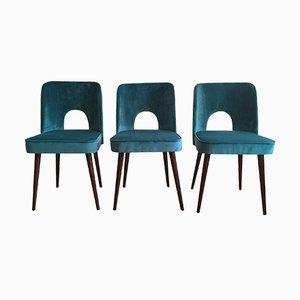 Mid-Century Stühle von Leśniewski für Słupskie Fabryki Mebli, 1960er, 3er Set