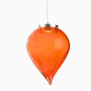 Orange Flik Suspension Lamp by Karim Rashid for Purho