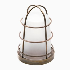 Chiara Lantern in Milky White Glass by Purho