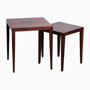 Vintage Rosewood Nesting Tables by Severin Hansen for Haslev Møbelsnedkeri