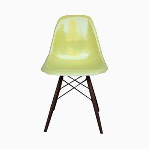 Zitronengelber DSW Stuhl mit Stiftbeinen von Charles & Ray Eames für Herman Miller, 1960er