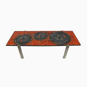 Mid-Century Tisch mit Keramikfliesen von Juliette Belarti für Belarti