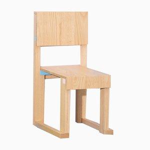 Sedia Terramare EASYDiA Junior in legno di castagno massiccio di Massimo Germani Architetto per Progetto Arcadia, 2017