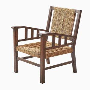 Vintage Sessel aus Korbgeflecht & Holz von Jourdain