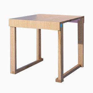 Tavolo Terramare EASYoLo Junior in legno di castagno massiccio di Massimo Germani Architetto per Progetto Arcadia, 2017