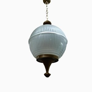 French Glass Ceiling Lamp, 1960s