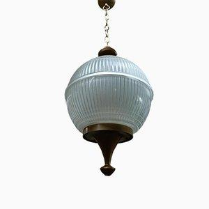 Lámpara de techo francesa de vidrio, años 60