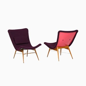 Lounge Chairs by Miroslav Navratil for Tatra, 1962, Set of 2