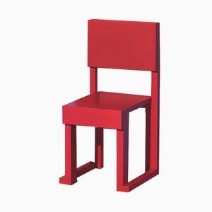 Sedia per bambini EASYDiA rossa di Massimo Germani Architetto per Progetto Arcadia