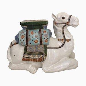 Mesa auxiliar o soporte para macetas chino vintage en forma de camello
