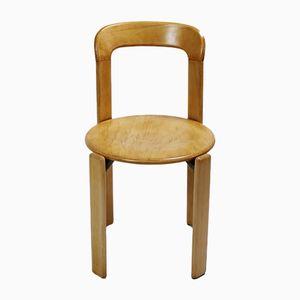 Stapelbarer Schweizer Mid-Century Stuhl von Bruno Rey für Dietiker, 1970er