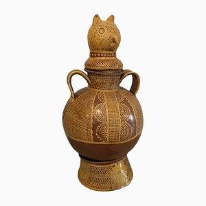 Zoomorphe Vase aus Terrakotta, 1970er