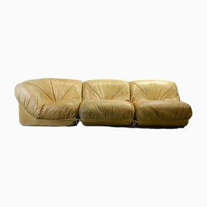 Leather Patate 3 Element Modular Sofa from Airborne, 1970s