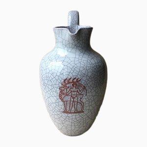 Große Vase von Majolika Karlsruher, 1950er