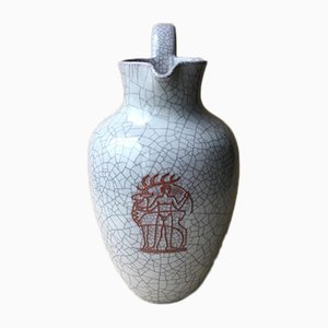Large Vase from Majolika Karlsruher, 1950s