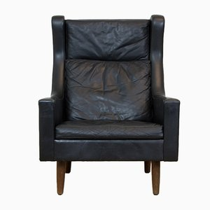 Danish Wingback Lounge Chair, 1960s