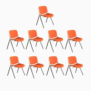 Axis DSC 106 Chairs by Giancarlo Piretti for Castelli, 1980s, Set of 9