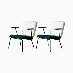 1401 Lounge Chairs by Wim Rietveld for Gispen, 1954, Set of 2