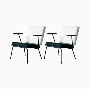 1401 Sessel von Wim Rietveld für Gispen 1954, 2er Set