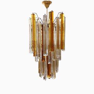 Lámpara de araña de cristal de Murano V