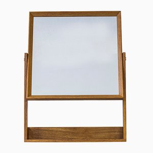 Espejo de pared con estante de Glas & Trä, años 60