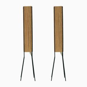 Paper-Cord Floor Lamps, 1959, Set of 2