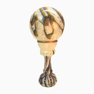 Lampada da tavolo in vetro di Murano di Mazzega, anni '70