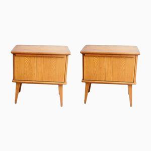 Vintage Bedside Tables, Set of 2