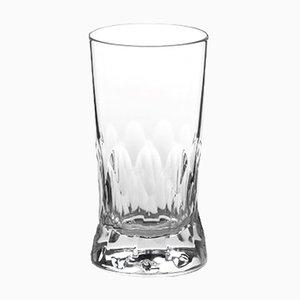 Hangefertigtes irisches Wasserglas aus Kristallglas aus Cutting Serie von Martino Gamper für J. HILL's Standard